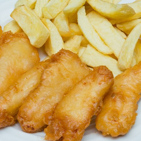 Chicken Fillets and Chips