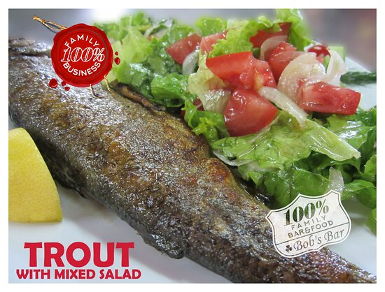 FRESH TROUT WITH MIXED SALAD