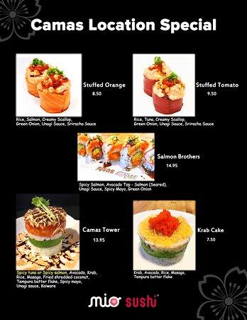 speacial menu
