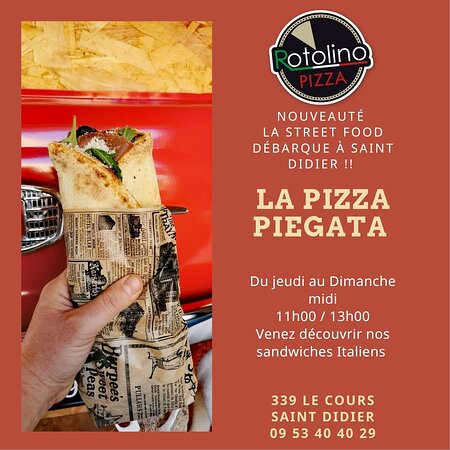 Saint-Didier, France: Street Food Italienne 🥖🍕🌮🥓 made in Rotolino Pizza 🛵