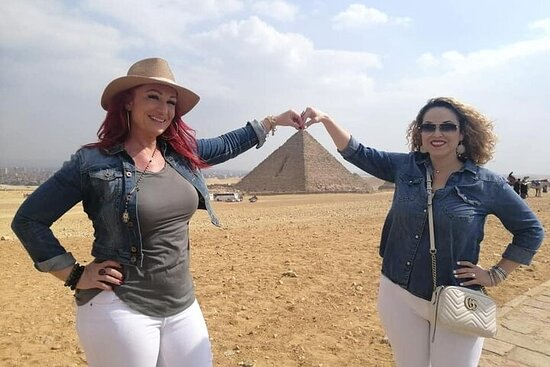 Giza pyramids and Egyptian museum local...