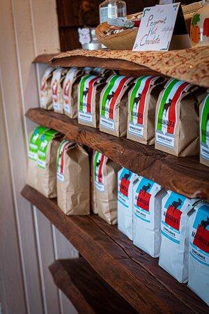 We sell a selection of Madawaska whole bean coffee!