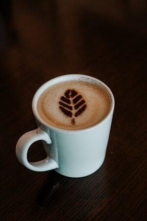 Oat milk latte with cinnamon