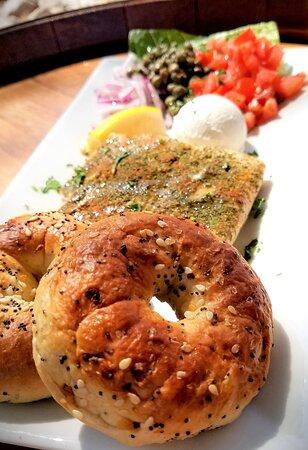 Salmon bagel spread