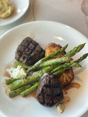 Filet medallions (I swapped out the sides that came with it for these two)