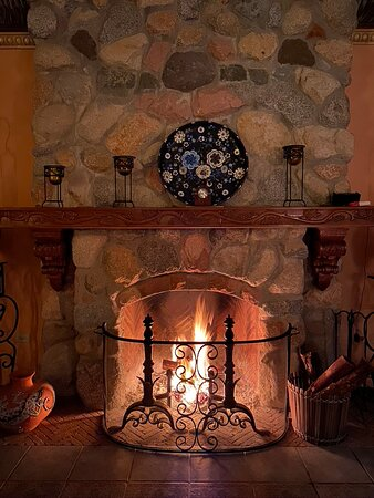 Fireplaces are cleaned and stocked with new wood every day. Such a cozy environment to end the evening with.