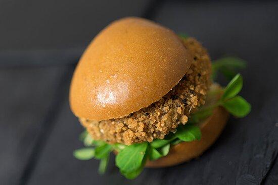 Wickford, UK: Our Thai infused Bad boy vegan burger.