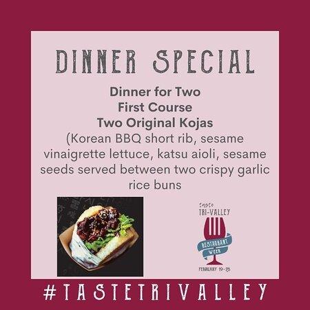 Tri-Valley Restaurant Week February 19 - 28, 2021