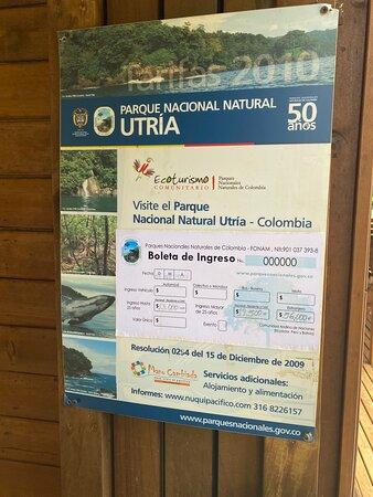 Utria signage.