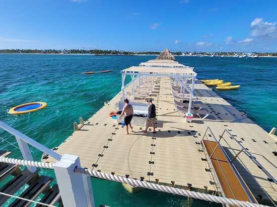 Reef Explorer Multiple activity Excursion from Punta Cana by Marinarium: floating dock