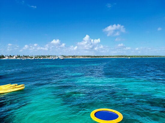Reef Explorer Multiple activity Excursion from Punta Cana by Marinarium: reef area and floating rest area