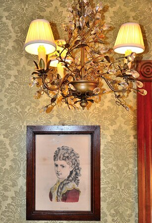 Authentic period details--like time travel but with better Internet! This is in the sitting room of Suite 5.