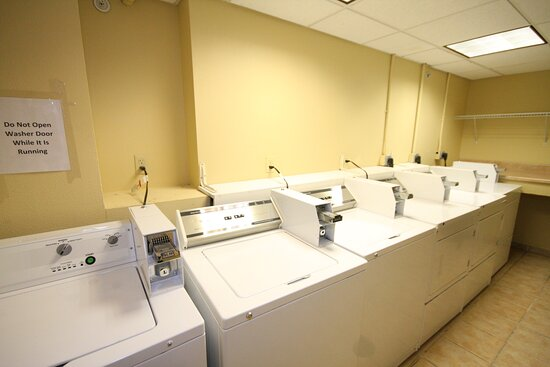 Plenty of washers and dryers for your use