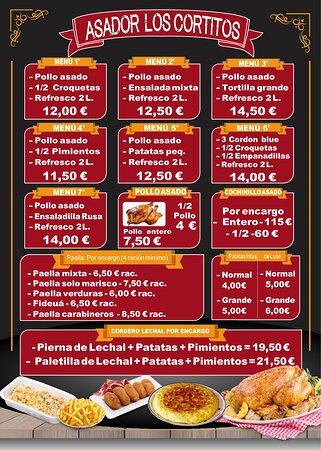 La Fortuna, Spain: Menú Asador de Pollos Los Cortitos - Comida para Llevar