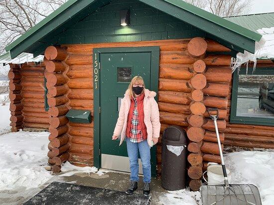 front door- love the log cabin look