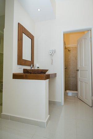Master Suite baño con regadera.