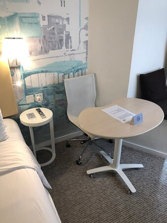 Small rolling table and chair