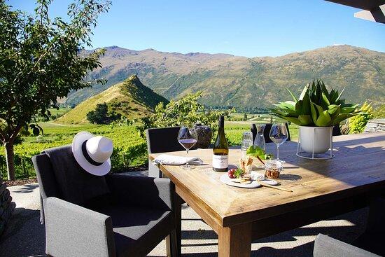 Gibbston, Nowa Zelandia: View from the lodge terrace