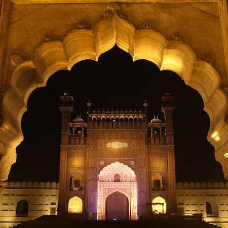 Lahore# Badshahi Mosque# Night# View #