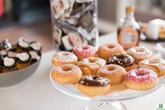 Tasty donuts for breakfast