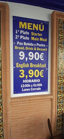Menu of the day!