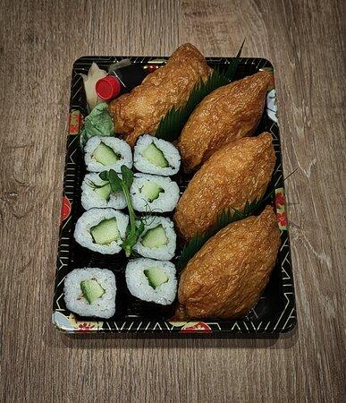 Nara Sushi Box - Cucumber Maki Roll (8 Piece) & Inari- Tofu (4 Piece).