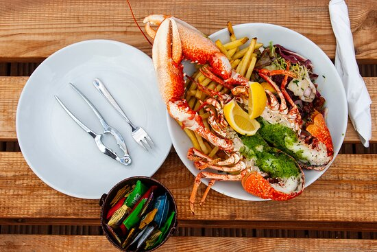 Our seasonal specials include fresh lobster.