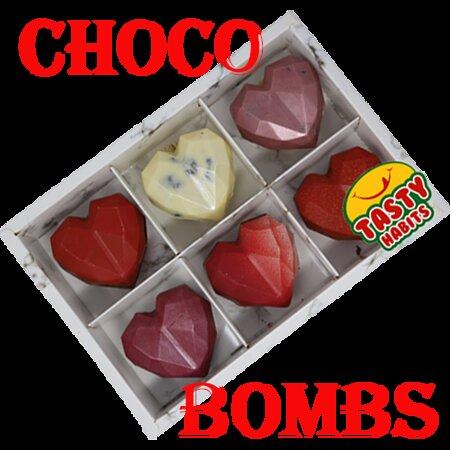 Hot Chocolate Heart Shaped Bombs