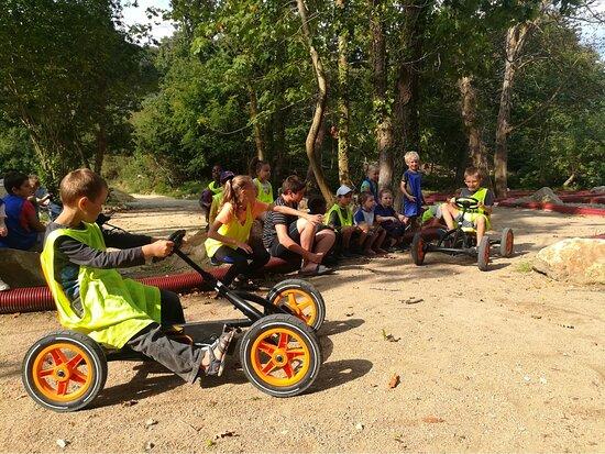 Go-kart tracks on the campsite