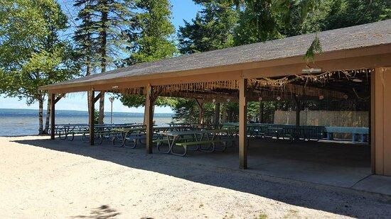 Onaway, MI: Beach Pavilion on Black Lake