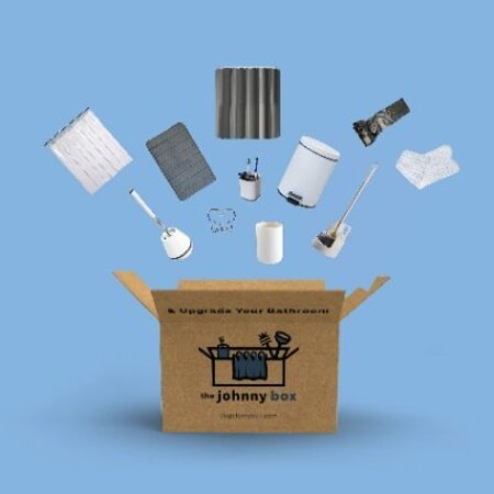 Dobbs Ferry, Estado de Nueva York: The Johnny Box is a complete bathroom accessory set containing all the accessories a guy needs for his bathroom. For more information: https://www.thejohnnybox.com/