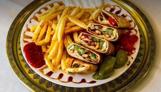 Chicken Shawerma meal with fries