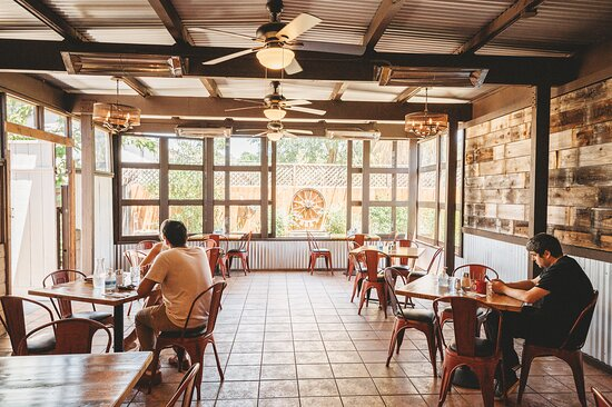 Spacious patio at Country Touch Cafe