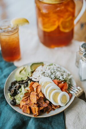 Lunch Cobb Salad and iced tea