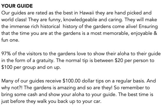 Here are your tipping instructions.  I truly hate it when a company does something like this.