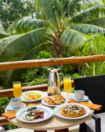Junior Suite tropical view - breakfast at the terrace