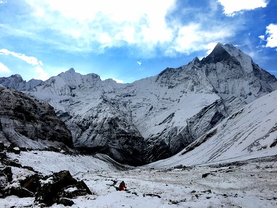View from Annapurna base camp (4130 m.)