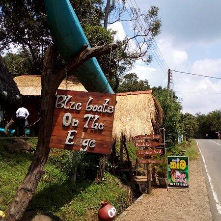 Sri Lanka: Blue boats on the edge restaurant srilankan village foods