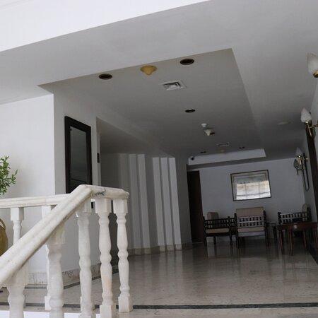 Hotel rooms corridor