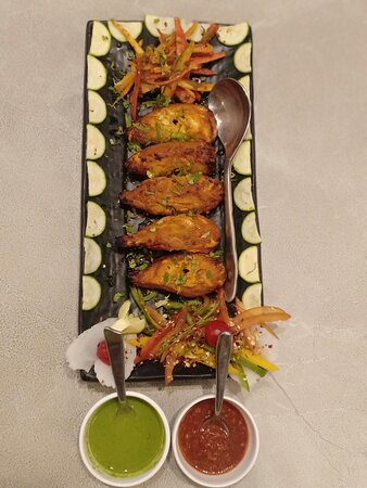 Tandoori Momos, mouth drooling flavors.