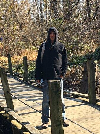 walking along the path at Wildwood Park