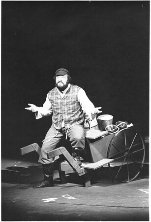 The Des Moines Playhouse has presented a season of musicals, comedies, dramas, and family shows every year since 1919. Pictured: Fiddler on the Roof, 1972-73 Season.