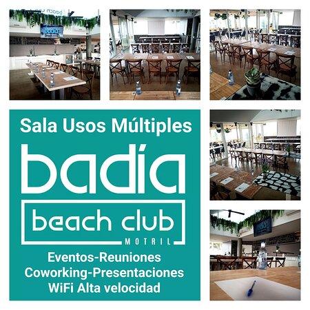 Sala de usos múltiples: Reuniones de empresa, eventos, Co-working, Eventos: Bodas, Comuniones, Presentaciones. Wi-Fi Alta velocidad.