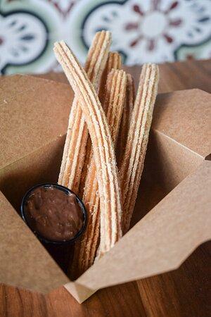 PINCHE CHURROS:   Cinnamon & Sugar Dusted, Mexican Chocolate Dip