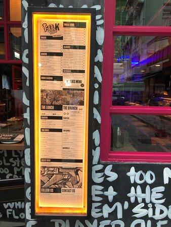TMK Rap & Rolls - menu