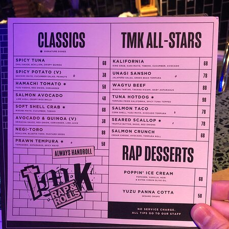 Classics and TMK All-Star wraps and Rap Desserts page