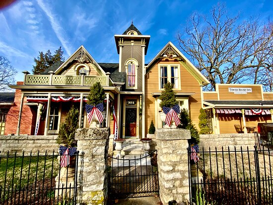 The Tower House Inn is a beautifully restored house on the historic upper loop in Eureka Springs, Arkansas. It has been many things in the past including a luxury home, an old folks home and tourist lodging. Come and explore the town!