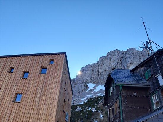 สติเรีย, ออสเตรีย: Old and new: soon, our modern hut will be ready to open (in summer 2021)