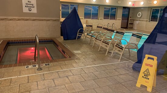 pool and hot tub were closed