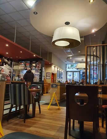 Costa Coffee in Liverpool Buisness District.